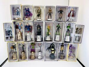 DC COMICS Lot Of 21 Figures Eaglemoss Collectors Set Batman Superman Rare NEW