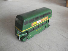 Vintage Solido 1:50 London Country Green Diecast Duble Deck Bus