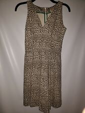 Women's Banana Republic Issa London Collection Animal Print Dress Sz 0P Petite