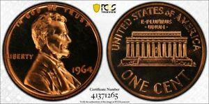 1964 Proof 1 Cent Penny PCGS PR67RD