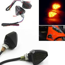 Pair Yellow Color Triangle Turn Signal LED Lights Indicator For Dirt Bike Moto