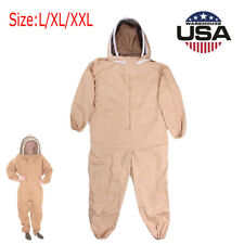 L/XL//XXL Professional Cotton Full Body Beekeeping Bee Keeping Suit w/ Veil Hood