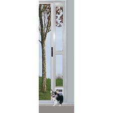Patio Pet Door Dog Door for Sliding Aluminum Screen Cat White Medium to 35 lb