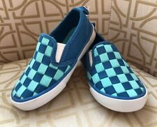 Old Navy Toddler Boy Weaved Look Blues Size 7 Canvas Loafer Slip On Nwt Cute!