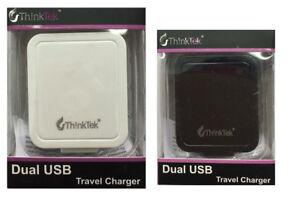 2.1 AMP Fast Dual Twin 2 Port USB Charger UK Mains Wall Plug Adapter 3-Pin