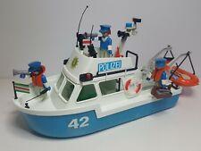Antigua Lancha Patrullera Playmobil 3539 Policia Polizei Barco Embarcacion