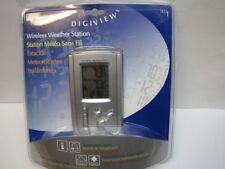 Digiview TE12 Wireless Weather Station Indoor Outdoor Clock Remote Sensor Alarm
