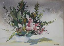 HOWARD WATSON-PA/AWS Impressionist-Original Signed WC-Flower Arrangement