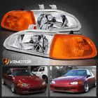 For 92-95 Honda Civic Eg Eh 2dr3dr Headlightsamber Corner Lamps 4pc 93 94