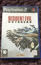 RARE RESIDENT EVIL OUTBREAK  PLAYSTATION 2 ZOMBIES COMPLETE WITH MANUAL