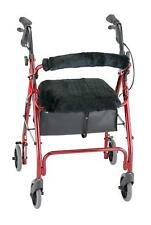 Rollator Walker Seat Back Cover Style Medical Mobility Equipment Faux Fur Black