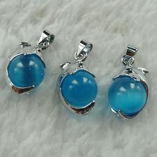 Free Ship 20pcs alloy cat's eye blue dolphin bead charms 22x11mm ZH923