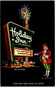 1960s Hattiesburg, Mississippi Postcard HOLIDAY INN NORTH Sign / Lamplighter