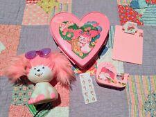 Vintage 1980s Poochie Pink Dog Lot Heart Box Tape Clipboard Stamper