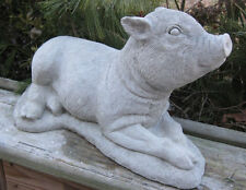 Beautiful hand crafted concrete large Pot Belly Pig statue!!!