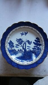 BOOTHS china Willow pattern dinner plates X 4, made in England, excellent order