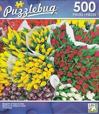 NEW Puzzlebug 500 Piece Jigsaw Puzzle ~ Bouquets of Tulips for Sale