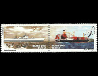 ships and whale - Stamp Brazil 2001 китовые корабли Michel 3213-14 Yvert 2745-46
