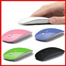 Maus Wireless drahtlos Mouse flach und handlich diverse Farben