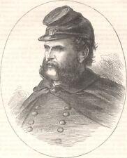 MILITARIA. Civil War. General Burnside c1880 old antique vintage print picture