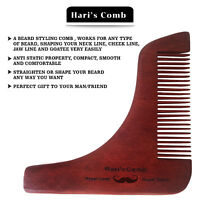 Hari's Beard Shaping Template Comb Styling Tool Trimming Line Facial Care-UKSELL
