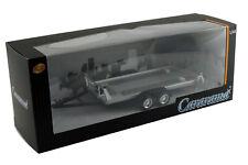 Cararama Remorque porte-autos double-essieu   Tow car trailer - 1/43ème