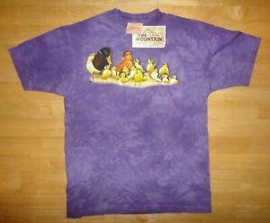 Vintage 2000 THE MOUNTAIN Ducklings Ducks Purple Tie Dye Shirt Youth XL *NEW*