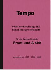 Tempo Front A 400 Bedienungsanleitung Handbuch Betriebsanleitung A400 Manual