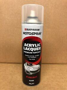 RUSTOLEUM AUTOMOTIVE ACRYLIC PAINT TOP COAT GLOSS CLEAR AEROSOL 400G