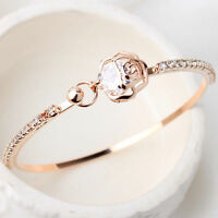 Mode Kristall Strass Gold Herz Liebe Damen Armband Armreif Schmuck