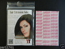 Super Tape Hair Extension double adhesiveTape Tabs 1 pack = 96 tabs 4cm X 0.8cm