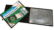 A3 Deluxe Landscape 4-d Ring Binder Folder Presentation Portfolio 10 Sleeves