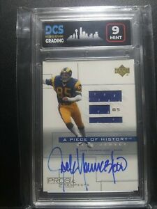 2001 Pros & Prospects Piece Of History Jersey Auto Jack Youngblood * Graded 9!!!