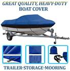 BLUE BOAT COVER FITS SUNBIRD SWL 173 CENTER CONSOLE O/B 1990