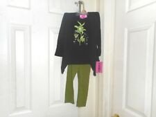 Pink Heart Girl's  Gorgeous 2 Piece Green  Legging Outfit       Size: 2