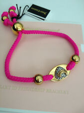 Juicy Couture Heart ID Friendship Bracelet Pink w/ rhinestones $29.99 MSRP