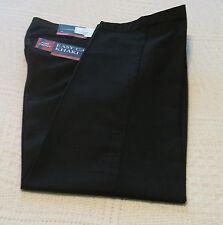 Mens Croft & Barrow Black Cotton Blend Slacks/Pants, Straight Fit, 32x29, NWT