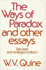 The Ways of Paradox and Other Essays, Revised Edition, W. V. Quine, Acceptable B