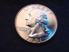 1951 WASHINGTON QUARTER GEM BU COIN FROM ORIGINAL BANK ROLL!!  #105