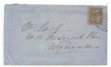 AA349 1873 GB WILTSHIRE *Wilton* Late Use 4VOS Numeral *685* Cover Weymouth