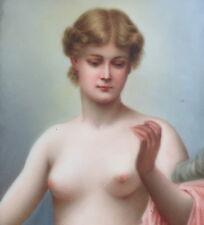 """Berlin porcelain plaque c.1900 semi-nude portrait """"Clotho"""" KPM qty"""