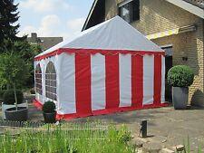 Partyzelt Bierzelt Pavillon Zelt 4x4 m rot-weiß PVC