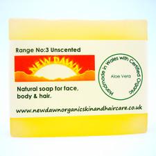 SENSITIVE SKIN, NEWBORN, BABY SOAP - Organic Aloe Vera Unscented Cleansing Soap