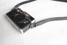 Genuine Real Leather Camera Shoulder Neck Strap for Mirrorless Film camera Black