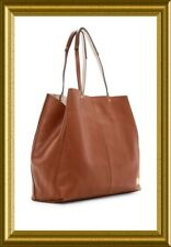 "NWT VINCENT CAMUTO FITZI TOTE 2 LEATHER~BROWN ""BRANDY""~LARGE~RET$258~DUST BAG"