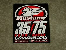 MUSTANG MOTORCYCLE SEATS ANNIVERSARY HARLEY DAVIDSON DECAL STICKER
