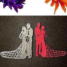 Bride Groom Wedding Couple Cutting Dies Stencils DIY Scrapbooking Paper Crafts