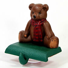 """Midwest of Cannon Falls TEDDY BEAR 4.5"""" Cast Iron Stocking Hanger Eddie Bauer"""