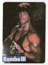 1988 Portugese Pocket Calendar American Rambo 3 Rocky Actor Sylvester Stallone