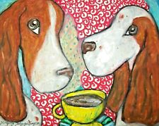 Irish Red White Setter 11 x 14 Art Print, Gifts, Poster, Dog lover